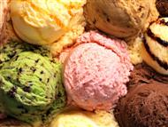Colourfull ice-creams